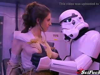 Stella Cox got her cooch plumbed in Starlet Wars porno spoof