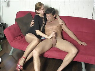 Edged and Milked wide of Lizzy Lamb SHINY PANTYHOSE FACE SITTING