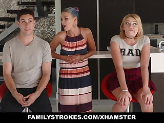 FamilyStrokes - Scavenger Track with sis turns sexual