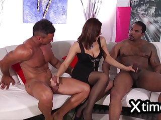 2 cocks for an Italian Bitch