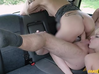 Amazing women kitchen garden the taxi driver's cock in serious XXX trilogy