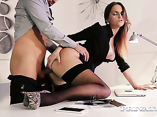 Sizzling hot young office girl is horny for her handsome effectively colleague