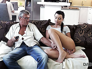 Slender girl Erica gets no attention distance from her BF and lures elder statesman man for have sexual intercourse