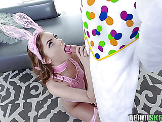 Horny Easter-Bunny has found a nice bootyful naughty egg hunter be advisable for intercourse