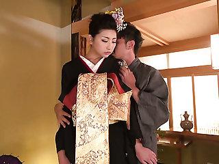 Japanese svelte hottie Yuna Shiratori gets fucked religious style